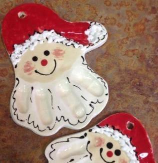 make your own holiday santa decoration